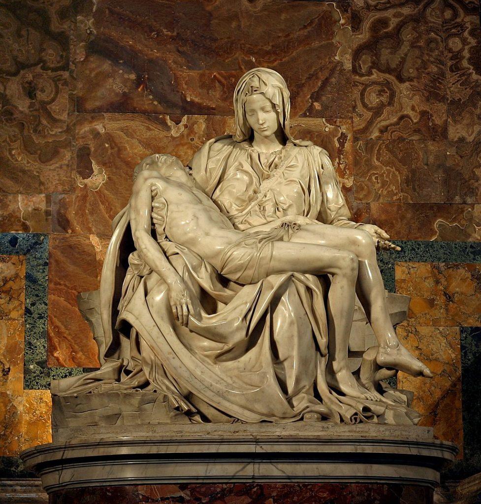 La Pieta by Michaelangelo Buonarroti (1498–1499)