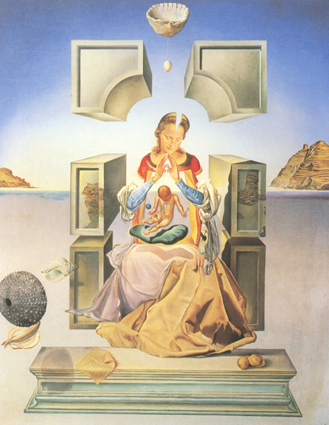 First Study for the Madonna of Port lliga by Salvador Dalí (1949)