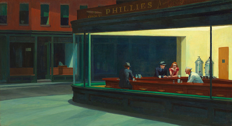 Nighthawks by Edward_Hopper (1942)