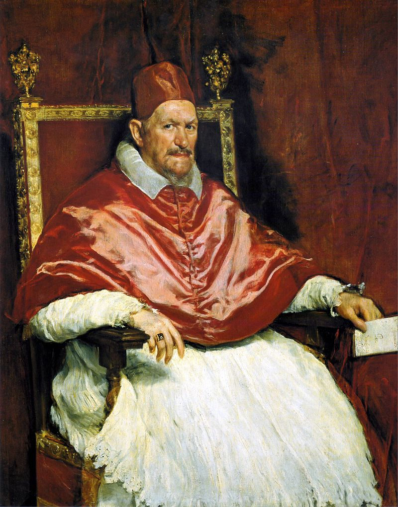 Portrait of Pope Innocent  X by Diego Velázquez (around 1650)