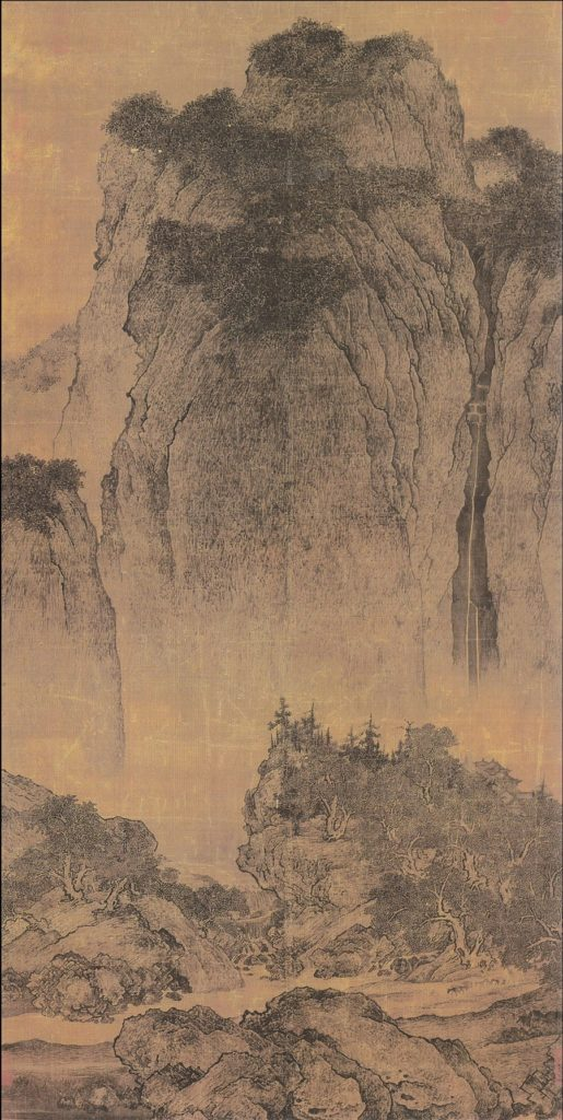 Travelers Among Streams and Mountains by Fan Kuan (1000)