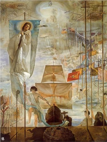 The Discovery of America by Christopher Columbus by Salvador Dalí (1958 - 1959)
