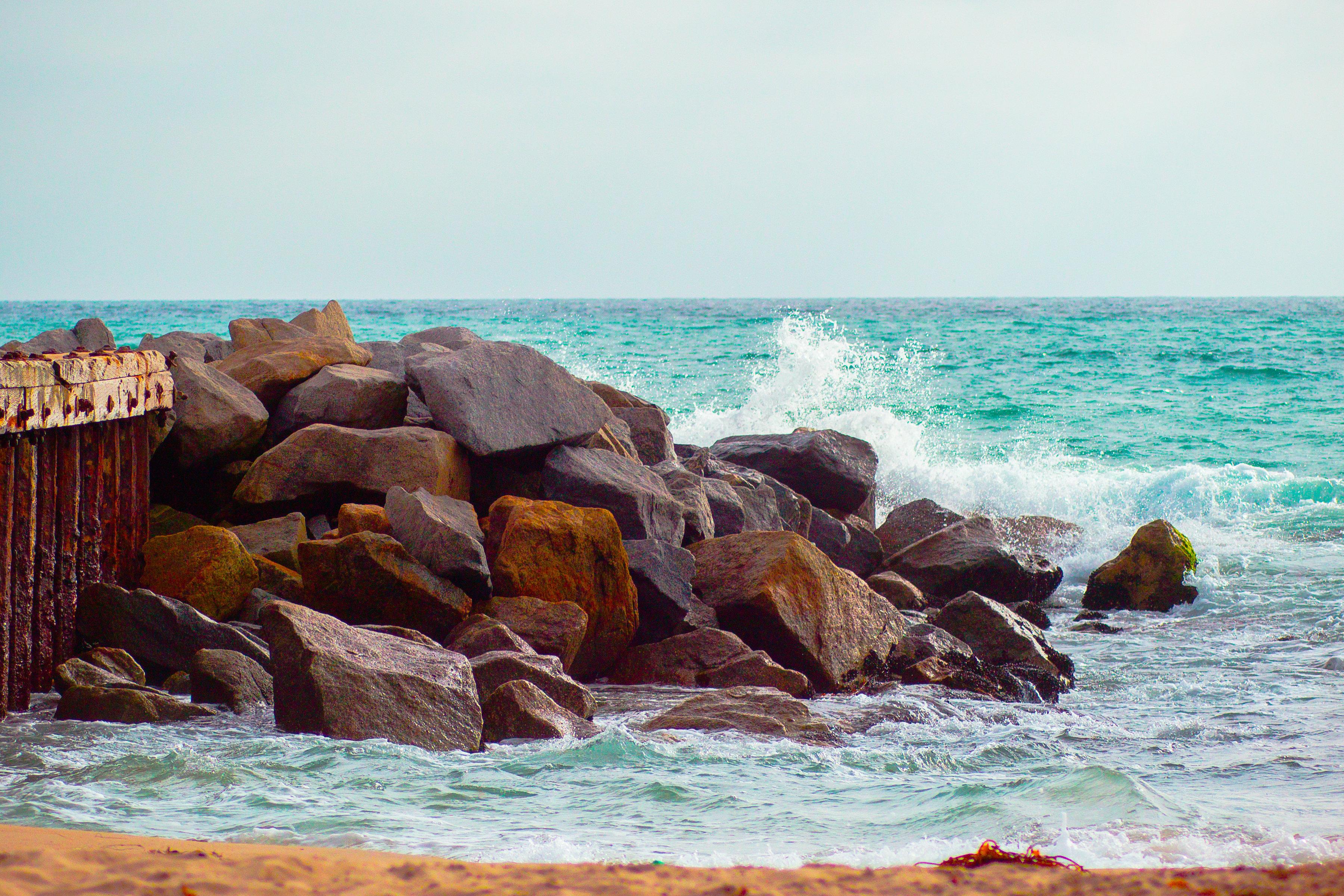 Tide Hits the Beach